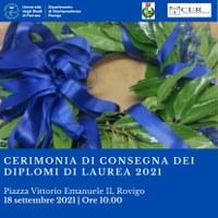 18 settembre: Cerimonia di consegna dei diplomi di laurea a Rovigo